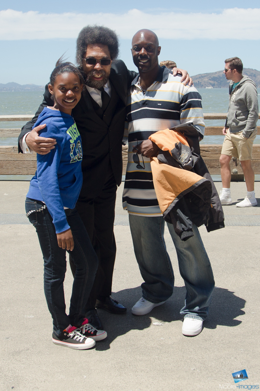 Jordyn, Dr. Cornel West, and I on the Pier